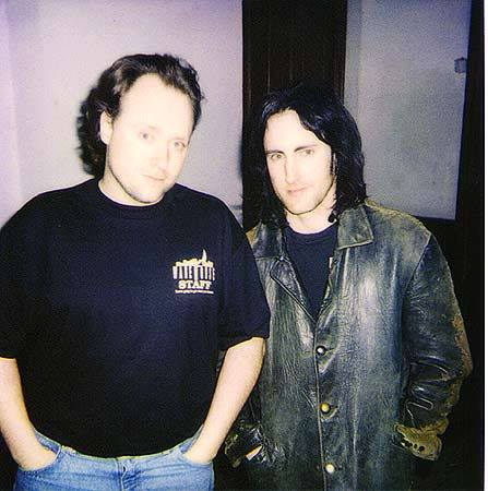 Warehouse owner Steve Harm, with Trent Reznor of Nine Inch Nails